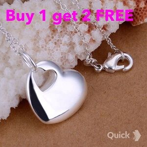 Jewelry - Heart silver plated necklace
